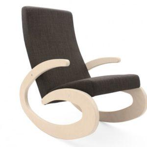 Radis Rocking Chair GEE white legs grey fabric RA0275